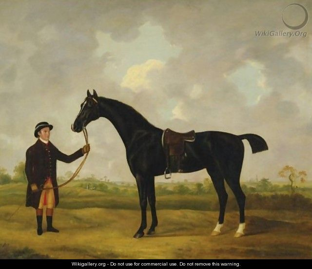 Horse And Groom In A Landscape - Francis Sartorius