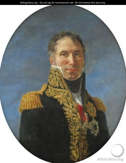 Portrait Of General Claude Carra De Saint-Cyr (1756-1834) - (after) David, Jacques Louis