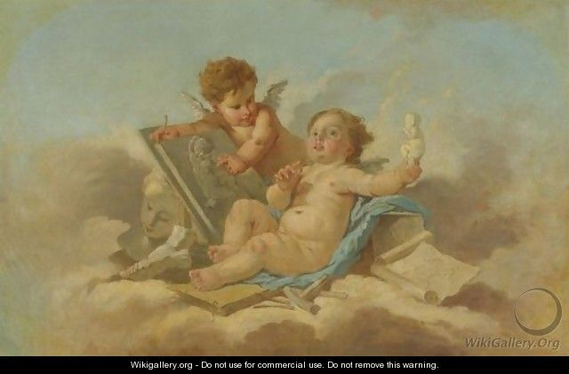 Allegory Of Sculpture - (after) Francois Boucher