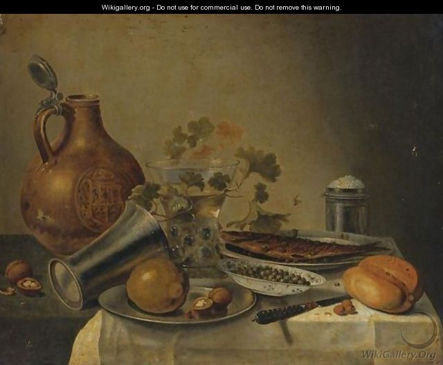 Still Life With A Bowl Of Capers - (after) Pieter Claesz