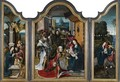 Triptych With The Adoration Of The Magi, Nativity And Flight Into Egypt - Jan van Dornicke