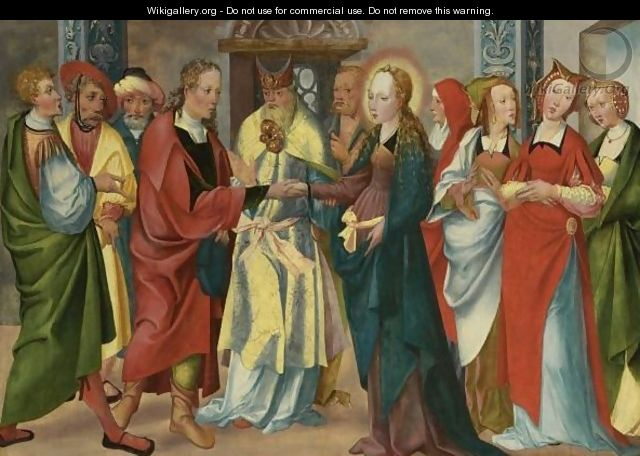 The Marriage Of The Virgin - South German School