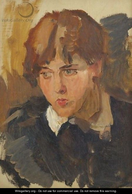 Portrait Of A Young Girl - Isaac Israels