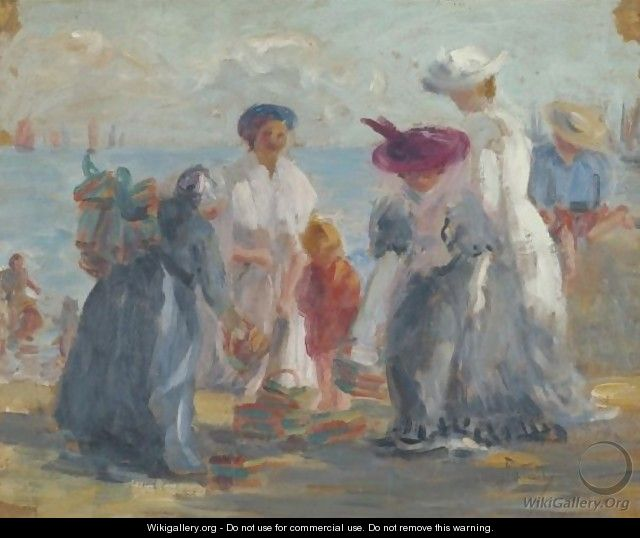 Women At The Seashore - Julian Falat