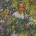 A Girl With Flowers - Luis Graner Arrufi