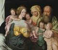 The Madonna And Child With Saints Elizabeth And Other Members Of The Holy Family The Holy Kinship - Vincent Sellaer