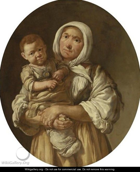 A Peasant Mother With Her Child In Her Arms - Giacomo Ceruti (Il Pitocchetto)
