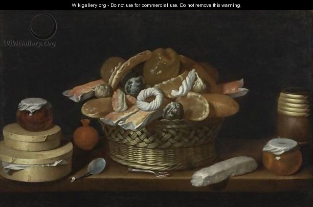 Table-Top With Basket And Boxes Of Sweets - Juan Van Der Hamen