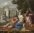 Polyphilus And Polia Accompanied By Nymphs On Island Of Cythera - Eustache Le Sueur