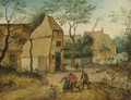 Drunkard Being Taken Home From The Tavern By His Wife - Pieter The Younger Brueghel