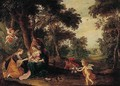 A Landscape With The Mystic Marriage Of Saint Catherine - Pieter Van Avont