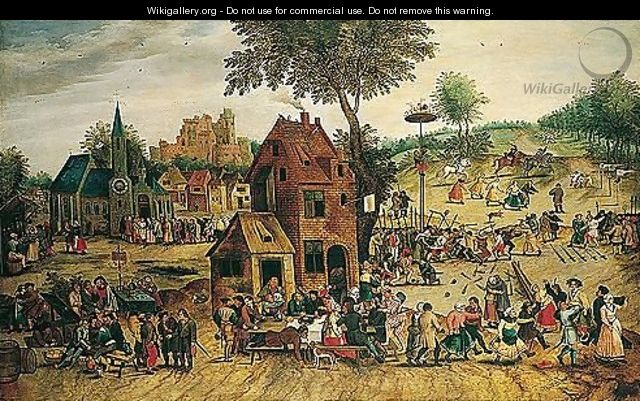 A Village Kermesse - Pieter The Younger Brueghel