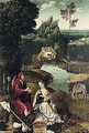 The Rest On The Flight Into Egypt - (after) Joachim Patenier (Patinir)