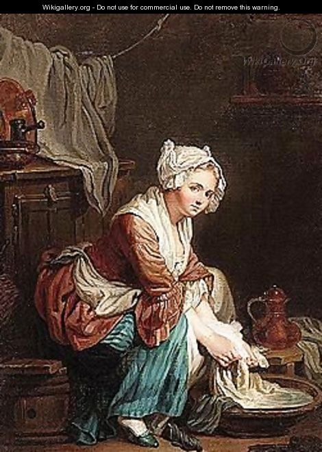 A laundry maid - (after) Greuze, Jean Baptiste