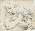 Study Of An Angel, With Arms Crossed - Annibale Carracci