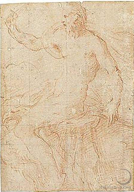 Jupiter, In Profile, Seated On An Eagle - Girolamo Francesco Maria Mazzola (Parmigianino)