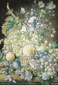 An Elaborate Still Life Of Fruit And Flowers - Oswald Wijnen
