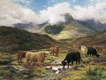 Cattle In The Highlands - Louis Bosworth Hurt