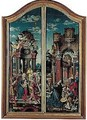 Altarpiece Inner And Outer Wings, Framed Together - Unknown Painter
