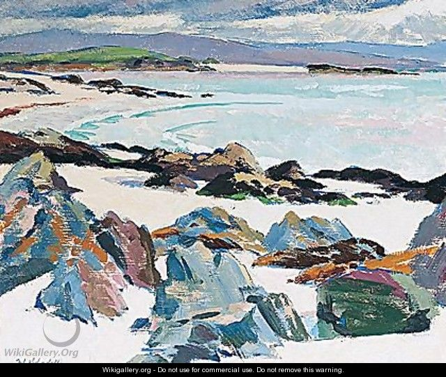 Iona. East Bay - The Little Island And Mull - Francis Campbell Boileau Cadell