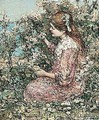 Picking Primroses - Edward Atkinson Hornel