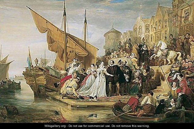 Mary Queen Of Scots Arriving At Leith, 1651 - Sir William Allan