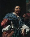 Portrait Of An Officer, Holding An Axe In One Hand - (after) Niccolo Renieri (see Regnier, Nicolas)