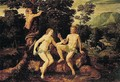 The temptation of Adam - Flemish School