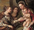 The mystic marriage of Saint Catherine with Saint Apollonia - (after) Paolo Veronese (Caliari)