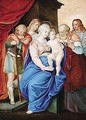 The Holy Family With Saints - Giorgio-Giulio Clovio
