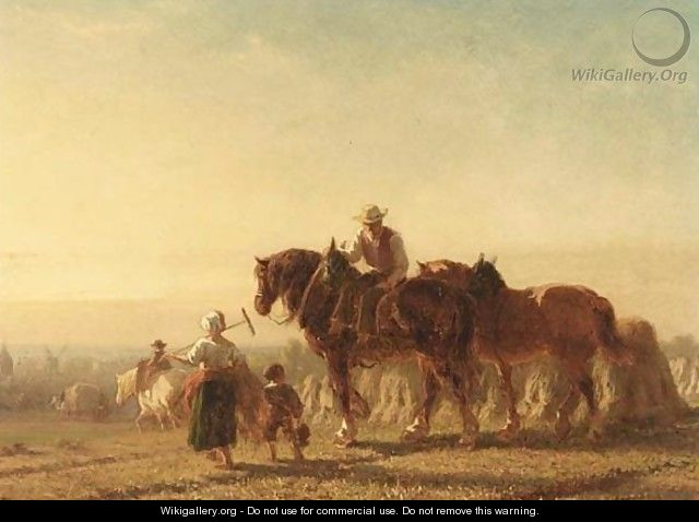 A Family Returning From The - Pieter Frederik Van Os