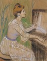 Playing the piano - Federigo Zandomeneghi