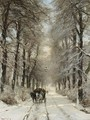 A Horse-drawn Cart On A Snowy Lane 2 - Louis Apol