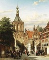 A View Of The Binnenpoort, Culemborg - Cornelis Springer