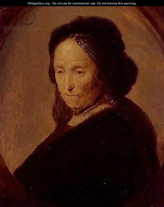 Portrait of an old woman, said to be Rembrandt