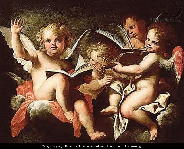 Angels making music - (after) Stefano Magnasco