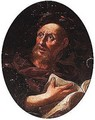 Portrait of a poet, head and shoulders - (after) Giovanni Battista Langetti