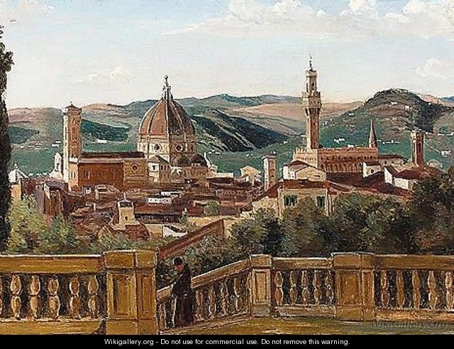 Prospect of the city of Florence - Italian School