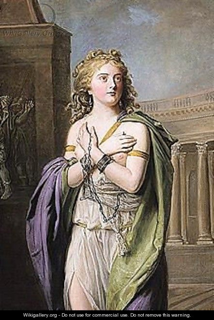 Zenobia conducted in chains - French School