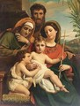 The Holy Family With Saint John The Baptist And Saint Elisabeth - Francois-Joseph Navez