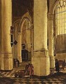 The interior of the oude kerk with the tomb of piet hein - (after) Gerard Houckgeest