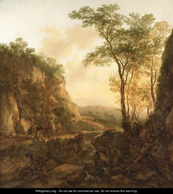 A Mountainous Wooded - Jan Dirksz. Both