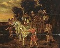 The meeting of Jacob and Joseph - (after) Jacob Willemsz De The Elder Wet