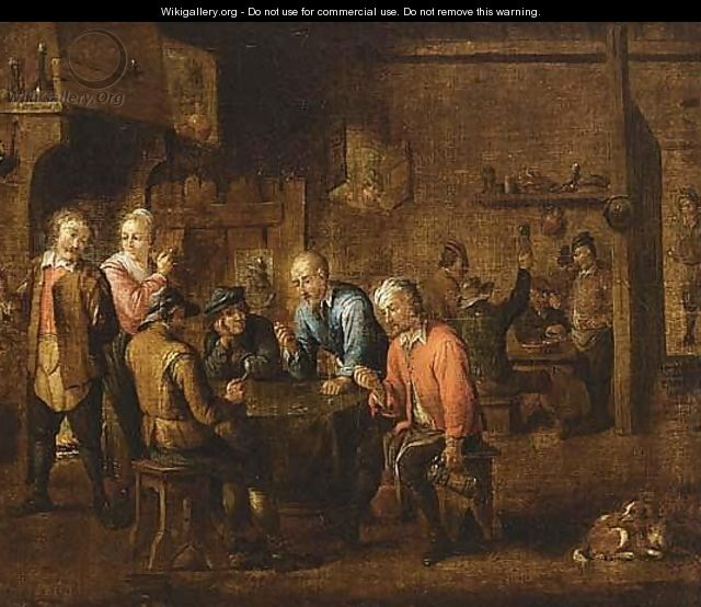 Bears Teniers Signature Upper Left - (after) David The Younger Teniers