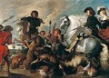 The wolf and fox hunt - (after) Sir Peter Paul Rubens