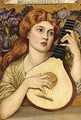 Lady with lute - (after) John Melhuish Strudwick