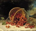 Still Life With Cherries In A Basket - John Francis