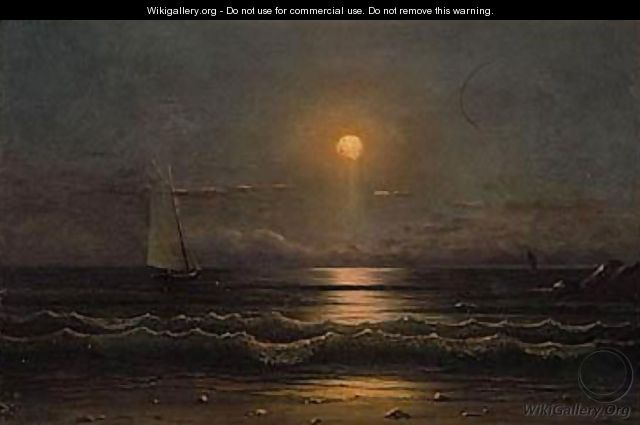 Sailing by moonlight 2 - Martin Johnson Heade