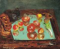 Still life with apples, vegetables and bread - Boris Dmitrievich Grigoriev