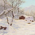 Mountain cabin under snow - Ivan Fedorovich Choultse